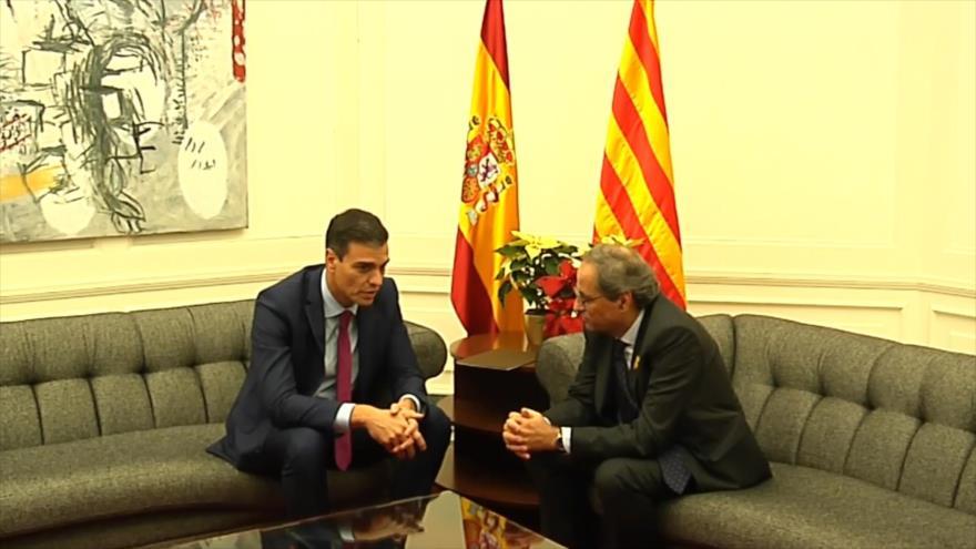 """Puigdemont llama a Torra a no renunciar a """"nada"""" ante Sánchez   HISPANTV"""
