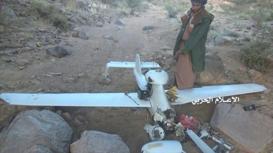 Un dron espía saudí derribado por los yemeníes.