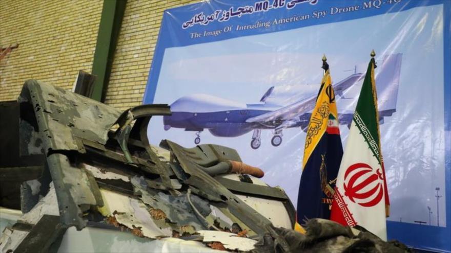 Irán difunde nuevas imágenes de restos del dron derribado de EEUU