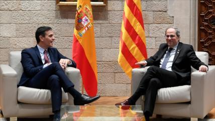 Tras meses de tensiones, Sánchez y Torra se reúnen en Barcelona