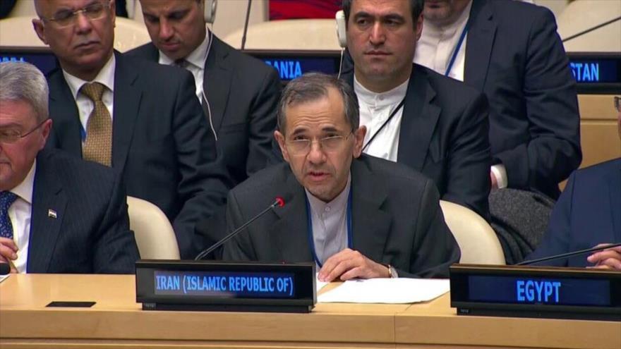 El enviado de Irán ante la Organización de las Naciones Unidas (ONU), Mayid Tajt Ravanchi.