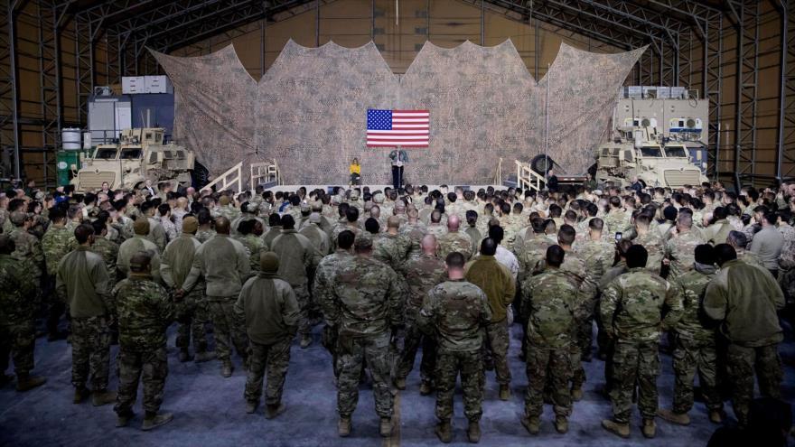 Las fuerzas estadounidenses desplegadas en la base aérea Ain Al-Asad, en el oeste de Irak.