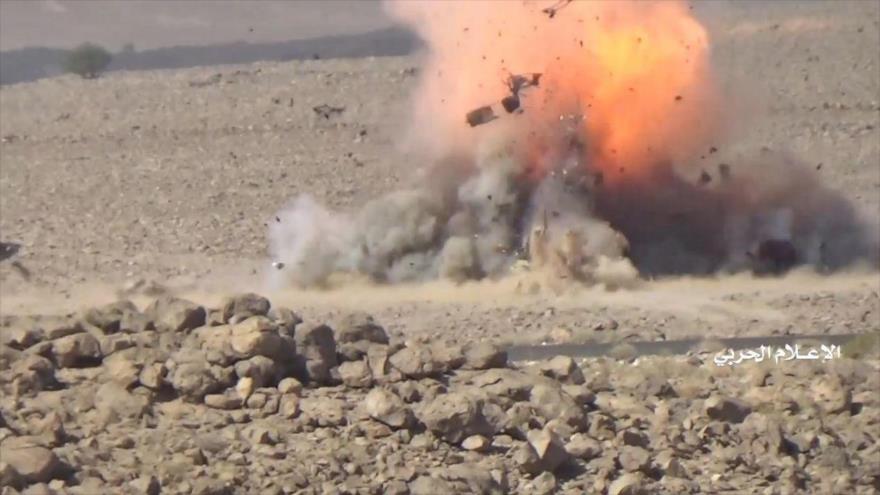 Vean cómo Ansarolá destruye vehículos y mata a mercenarios saudíes | HISPANTV