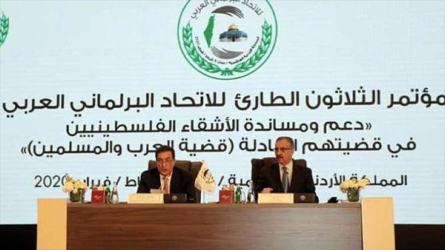 El 30.º encuentro de emergencia de la Unión Interparlamentaria Árabe (AIUP, por sus siglas en inglés), Amán, capital de Jordania, 8 de febrero de 2020.