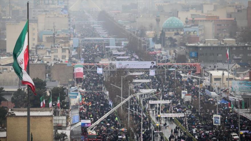 Iraníes celebran el 41.º aniversario de la Revolución Islámica