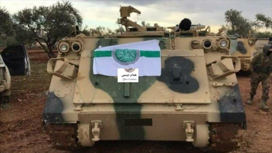 Vehículos blindados de EEUU en manos de terroristas en Siria | HISPANTV