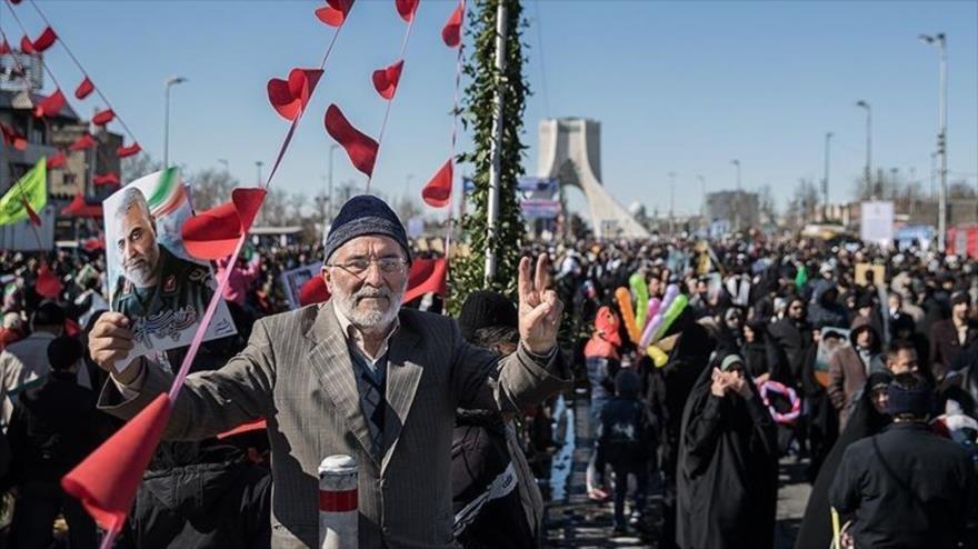 Eco mundial de marchas por 41.º aniversario de Revolución Islámica
