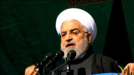 Rohani asegura que Irán no cederá ante sanciones de EEUU