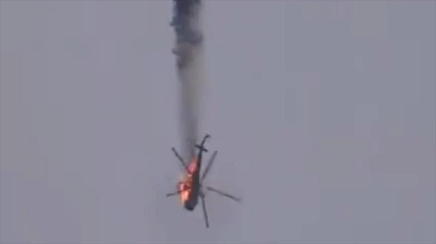 Vídeo: Fuerzas apoyadas por Turquía derriban un helicóptero sirio