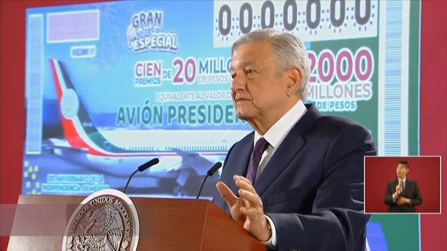 López Obrador propone rifa para vender el avión presidencial
