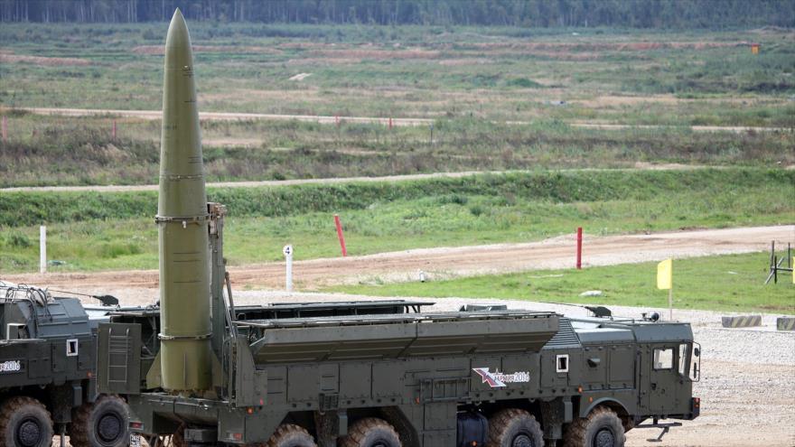 Un misil ruso Iskander, capaz de transportar cabezas nucleares.