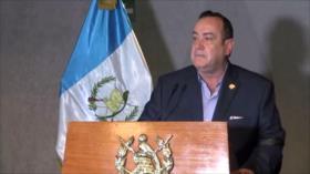El presidente de Guatemala es denunciado en su gestión