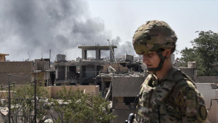 Un militar de EE.UU. en la ciudad iraquí de Mosul, 21 de junio de 2017. (Foto: AFP)