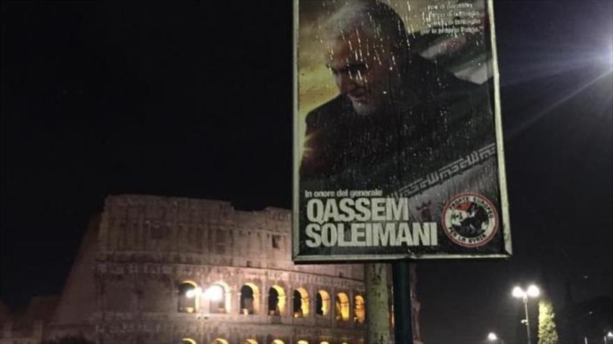 Italia tributa a Soleimani, incansable en lucha contra la tiranía