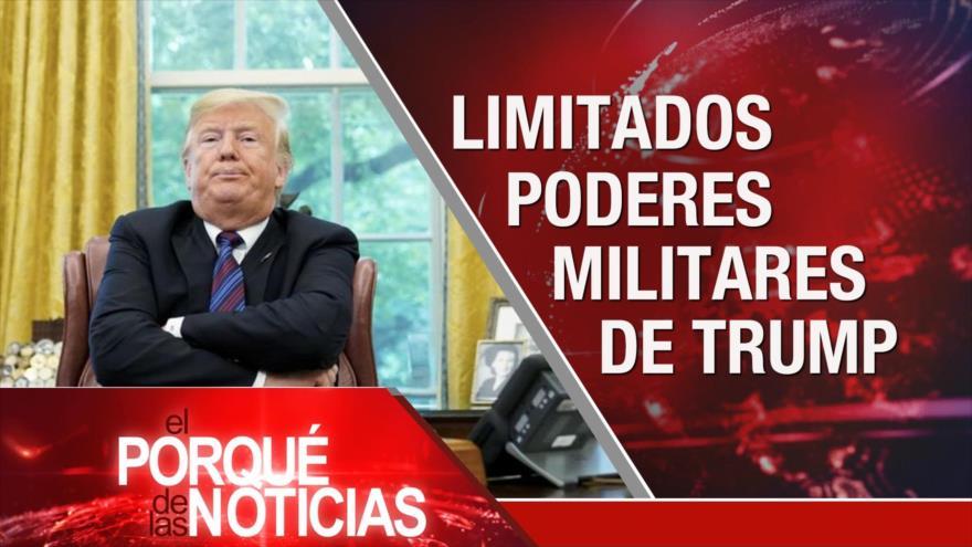 El Porqué de la Noticias: 40 días del martirio del general Soleimani. Crímenes de EEUU contra Venezuela. Limitación de poderes de Trump