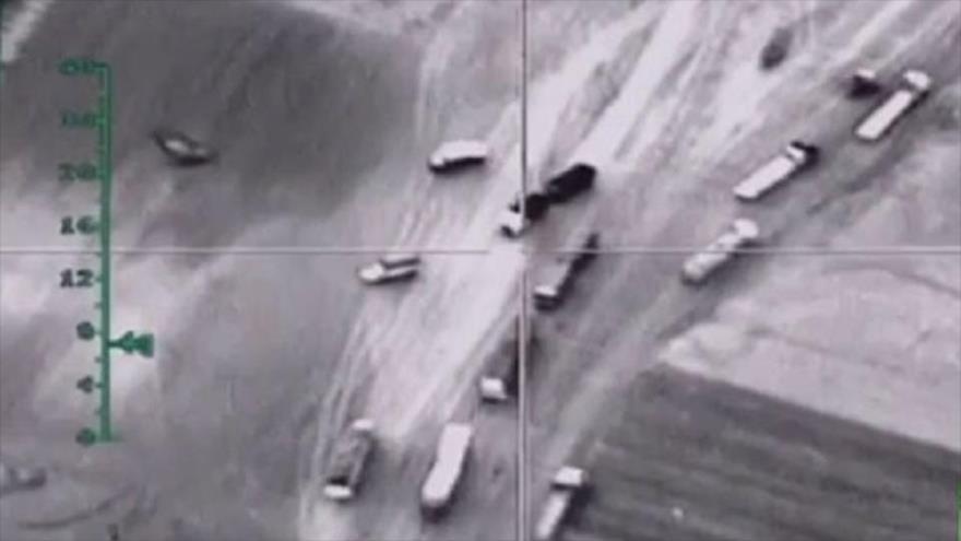 Vídeo: Fuerza Aérea rusa monitorea convoy militar turco en Siria