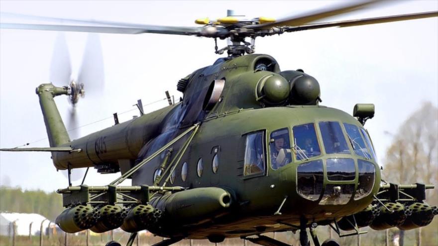 Un helicóptero de la agencia estatal rusa para la compraventa de productos de defensa, Rosoboronexport SA.