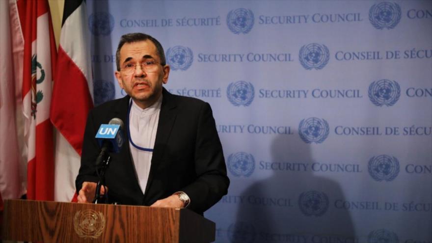 El representantepermanentede Irán ante la Organización de las Naciones Unidas (ONU), MayidTajt Ravanchi.
