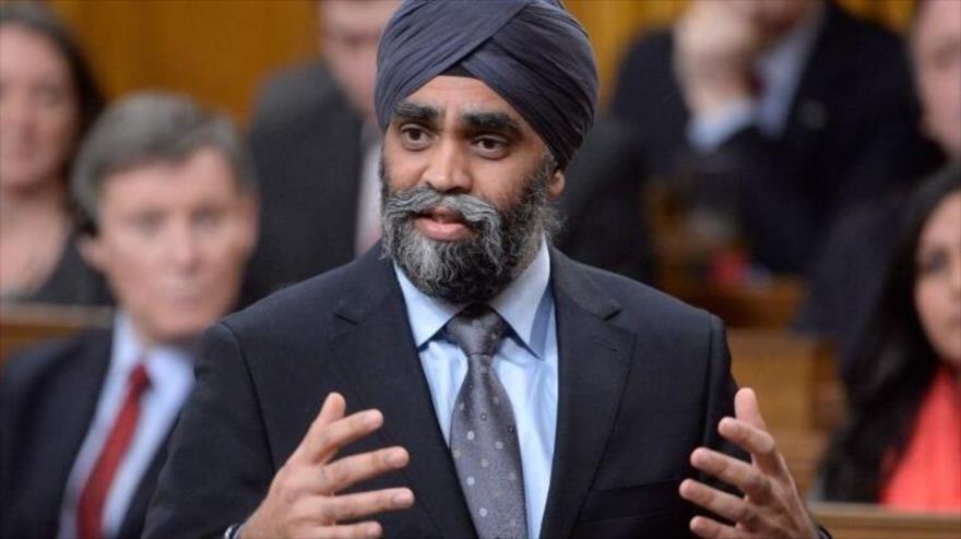 El ministro de Defensa de Canadá, Harjit Sajjan.