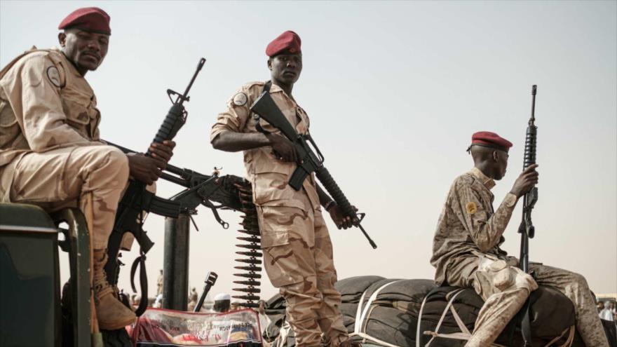 Miembros de la agrupación paramilitar denominada Fuerzas de Apoyo Rápido (RSF) en Libia.