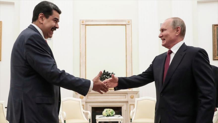 El presidente de Venezuela, Nicolás Maduro (izq.) y su par ruso, Vladimir Putin, en el Kremlin, Moscú, 25 de septiembre de 2019. (Foto: AFP)