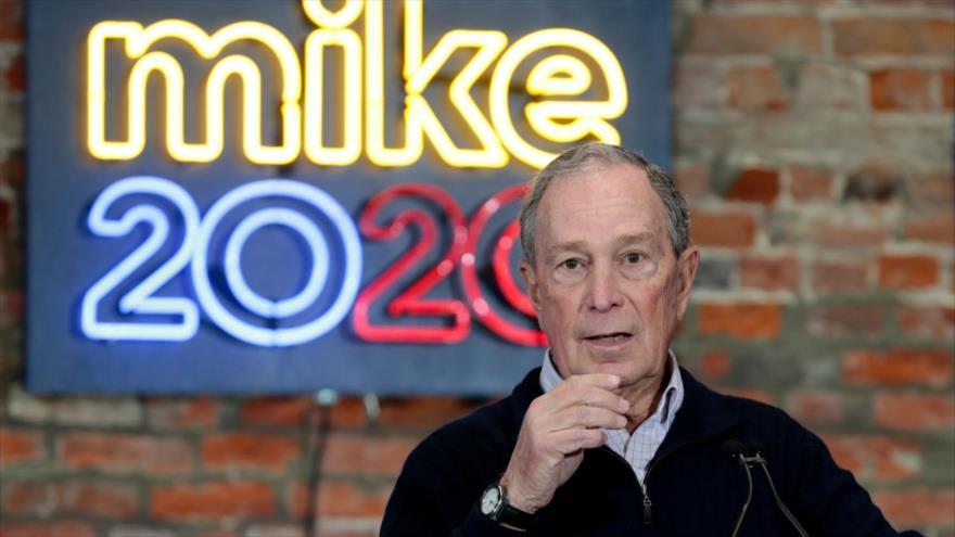 El multimillonario Michael Bloomberg, precandidato demócrata a la Presidencia de EE.UU. en un acto en Michigan, 21 de diciembre de 2020. (Foto: AFP)