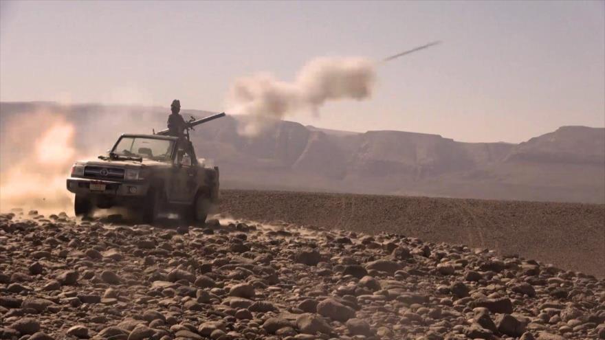 Vídeo: Yemeníes destruyen centro de operaciones saudí cerca de Saná