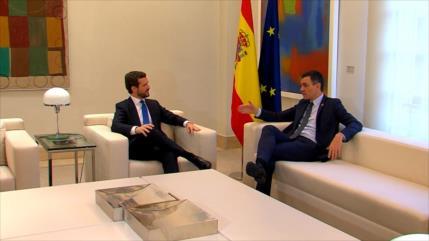 Casado reclama a Sánchez que rompa el diálogo en Cataluña