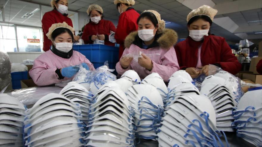China construye en 6 días nueva fábrica de mascarillas por coronavirus.