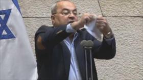Vídeo: Diputado rompe el 'acuerdo del siglo' en parlamento israelí
