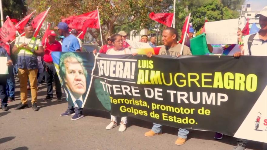 Movimientos sociales repudian presencia de Luis Almagro en Panamá