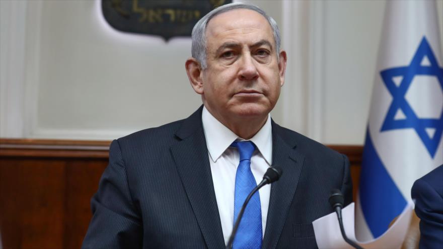 El primer ministro israelí, Benjamín Netanyahu, en una sesión del gabinete, Al-Quds (Jerusalén), 16 de febrero de 2020. (Foto: AFP)