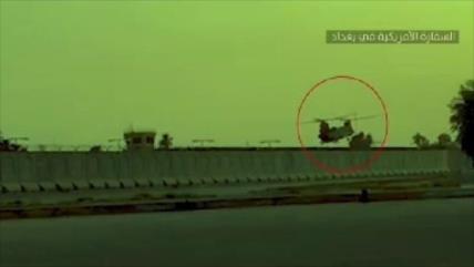 Vídeo muestra cómo Hezbolá iraquí vigila un helicóptero de EEUU