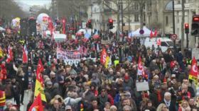 Francia vive nueva jornada de huelga contra reforma de pensiones