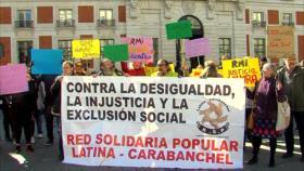 Españoles exigen el derecho a la Renta Mínima de Inserción