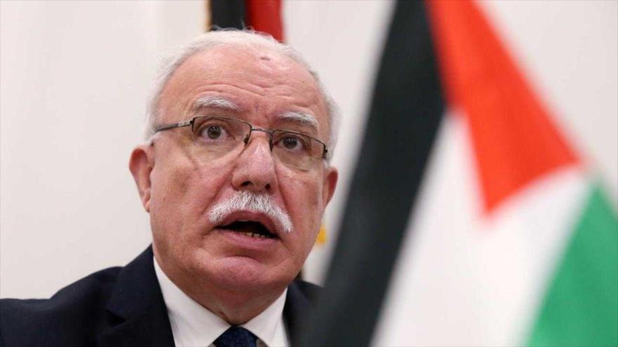 El ministro palestino de Asuntos Exteriores, Riad al-Maliki.