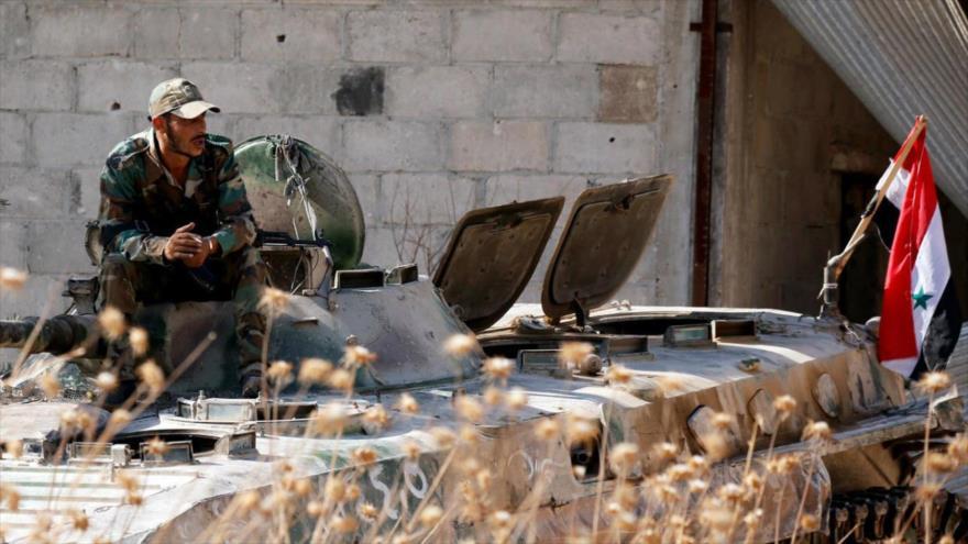 Un soldado del Ejército sirio en la provincia de Idlib (noroeste).