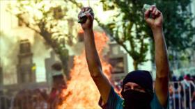 Chilenos protestan contra el Gobierno de Sebastián Piñera