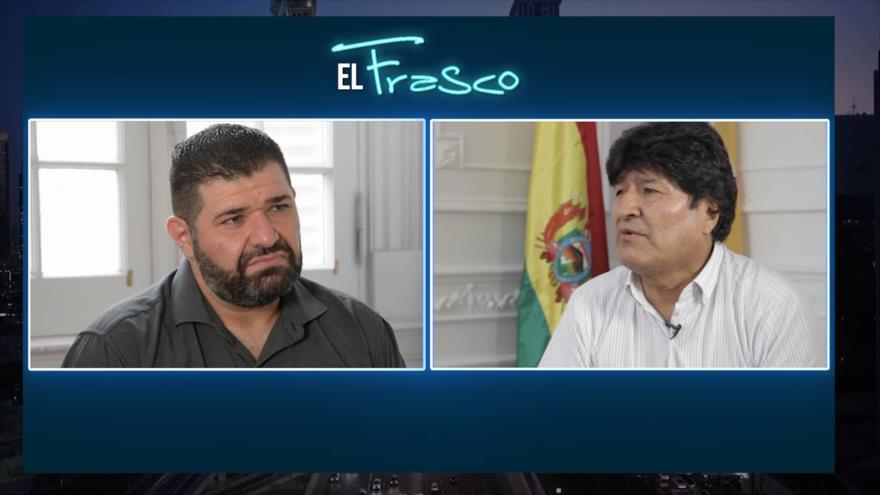 El Frasco, medios sin cura: Entrevistando a Evo Morales