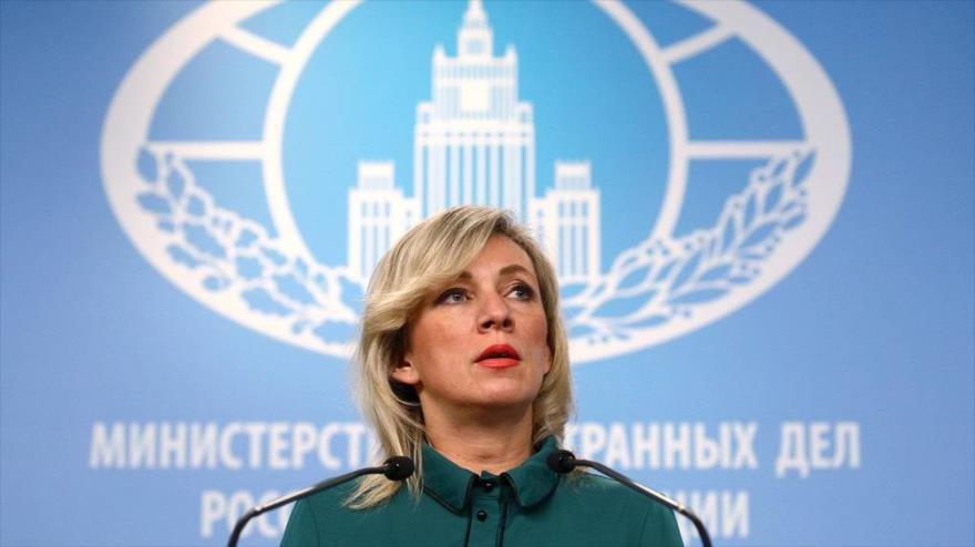 La portavoz del Ministerio ruso de Relaciones Exteriores, Maria Zajarova.