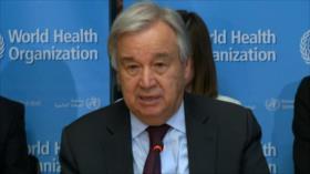 Guterres pide colaboración de los países para detener coronavirus