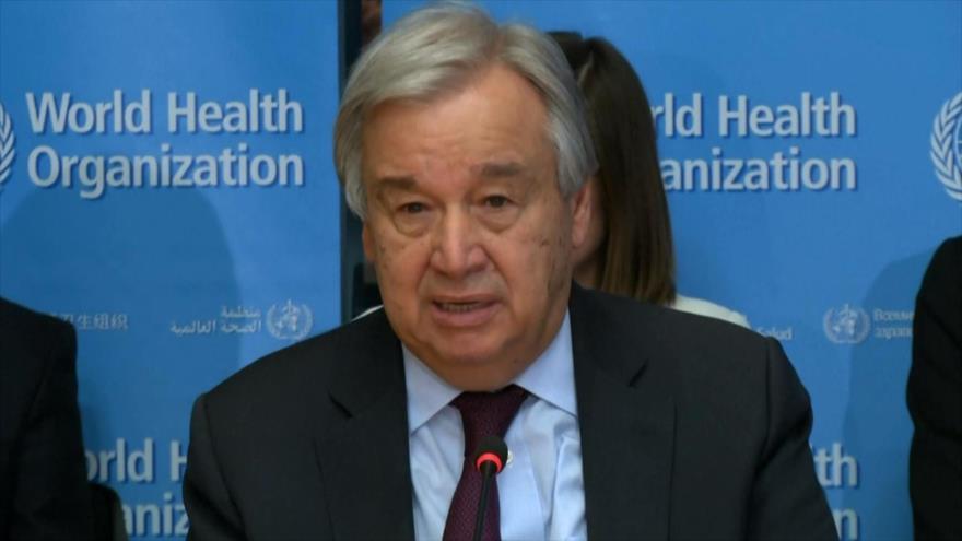 Guterres pide colaboración de los países para detener coronavirus   HISPANTV