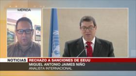 Jaimes Niño: Sanciones de EEUU muestran que es un Estado forajido