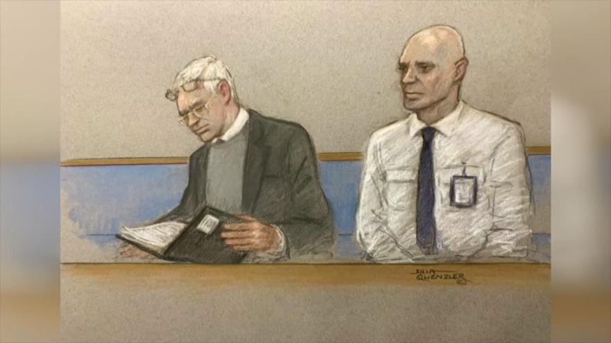 Se mantiene la 2.ª jornada de audiencia de Assange en Londres