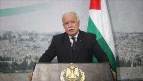 Palestina urge sancionar a Israel para que detenga su colonización