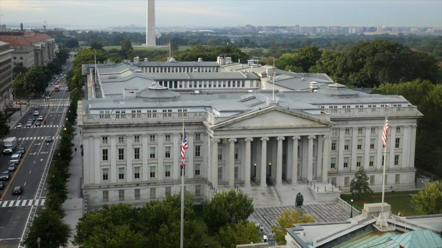 La sede del Departamento del Tesoro de Estados Unidos en Washington, la capital.