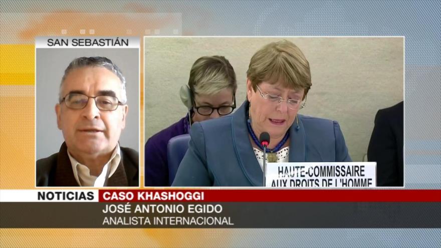 Egido: Bachelet condena crímenes saudíes para salvar su honor