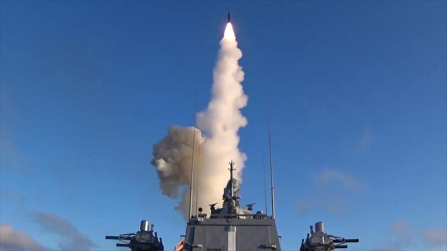 El momento de lanzamiento de un misil ruso.
