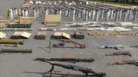 Siria incauta armas y municiones turcas dejadas por terroristas