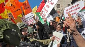 Israel reprime a palestinos que conmemoran la masacre de 1994